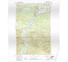 USGS Topo Map Washington State WA Elwha 241045 1950 24000 Poster