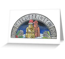 A Lewis Chessmen Christmas Greeting Card
