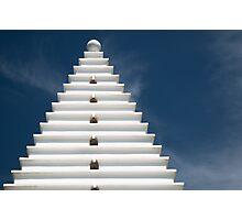 White Architecture on Blue, Horizontal Photographic Print
