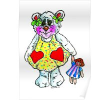Care with Bear ! Poster