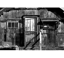 Black and White shack Hawaii Photographic Print