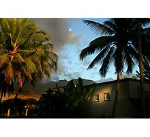 Hawaii Moon Photographic Print