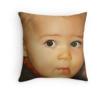 Brown-Eyed Boy Throw Pillow