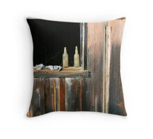 Abandoned villiage in Hawaii Throw Pillow