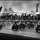 Motorbikes in the rain. by GreyCard