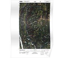 USGS Topo Map Washington State WA Scotchman Lake 20110428 TM Poster