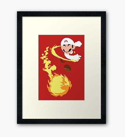 Mario - Fire Flower Mario Framed Print