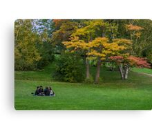 An Autumn Day in the Park Canvas Print