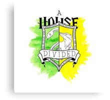 Wizard House Divided {Sly & Loyal} Canvas Print