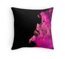 Ink + water (dark) pink Throw Pillow