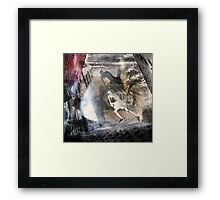 You can run but you can't hide. Framed Print