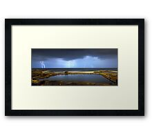 Multiple Strikes Framed Print
