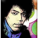 JIMI HENDRIX-POP-ART (LARGE)  by OTIS PORRITT