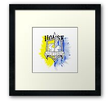 Wizard House Divided {Loyal & Smart} Framed Print