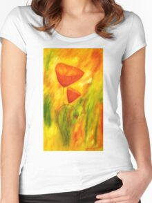 Lovely poppies Women's Fitted Scoop T-Shirt