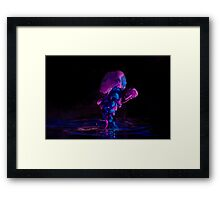Ink + Water (purple/blue) Framed Print