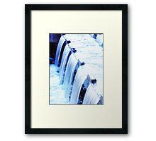 Waterfall at Library Framed Print