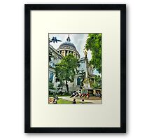 St Paul is giving his blessing Framed Print