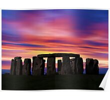 Stonhenge New Age Dawn Poster