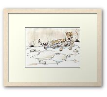 African Leopard {Panthera pardus} 'Luiperd' Framed Print