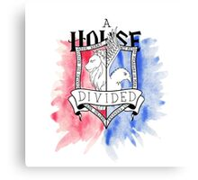 Wizard House Divided {Brave & Smart} Canvas Print