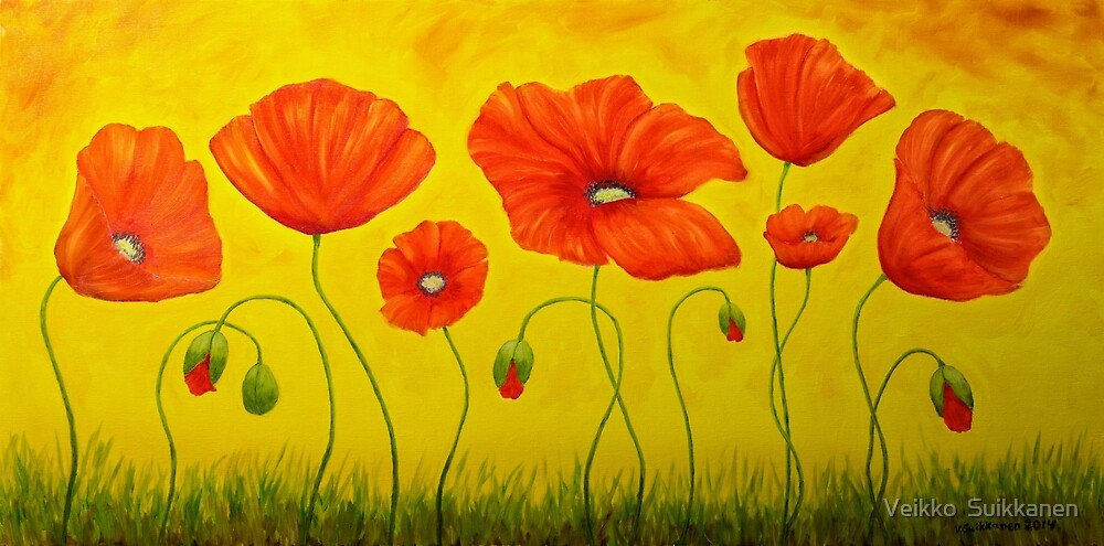 Poppies at the time of by Veikko  Suikkanen