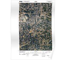 USGS Topo Map Washington State WA Frederickson 20110422 TM Poster