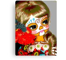 day of the dead catrina painted doll Canvas Print