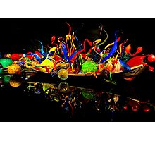 Chihuly Glass Boat Photographic Print