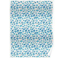 Cherry Blossom - Blue Poster