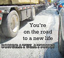 Congratulations New Life Greeting Card - Traffic Jam by MotherNature