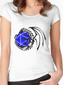 Dungeons and Dragons - Black and Blue! Women's Fitted Scoop T-Shirt