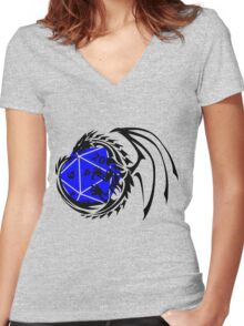 Dungeons and Dragons - Black and Blue! Women's Fitted V-Neck T-Shirt
