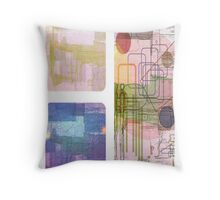A Circle Amongst Squares Throw Pillow