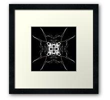 white square on Black Framed Print