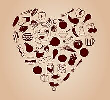Heart from meal by Aleksander1