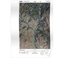 USGS Topo Map Washington State WA Lewis Butte 20110427 TM Poster