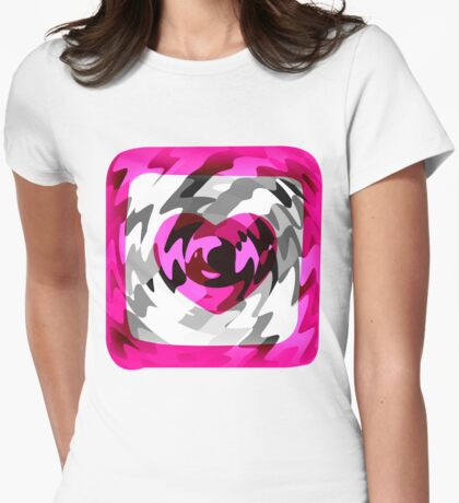 Funky Heart Art Design Abstract Womens Fitted T-Shirt