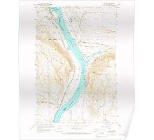 USGS Topo Map Washington State WA Beverly 240040 1965 24000 Poster
