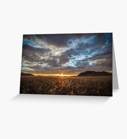 Sunburst Through the Clouds Greeting Card