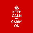 Keep Calm and Carry On iPhone Case by Gqualizza