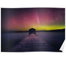 Aurora Boomer Bay Boatshed - Tasmania Poster