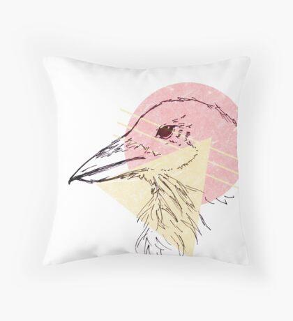 Simplistic Raven 2 Throw Pillow