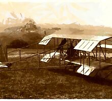 Duigan Pusher Biplane 1910 by Dennis Melling