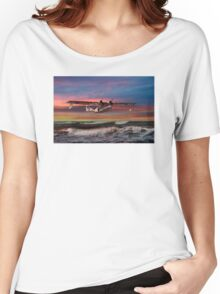 Catalina Flying Boat at Sunset (RAF Version) Women's Relaxed Fit T-Shirt
