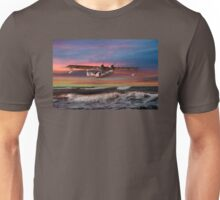 Catalina Flying Boat at Sunset (RAF Version) Unisex T-Shirt