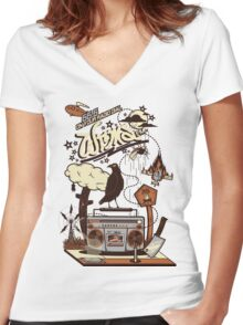 WRMS FM Women's Fitted V-Neck T-Shirt