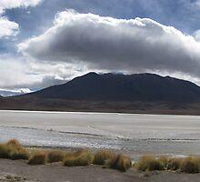 Salt Flats and Mountains by Kenji Ashman