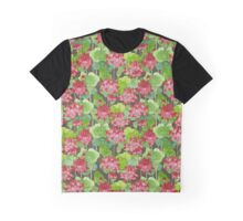 Lotus Flower - Red Graphic T-Shirt