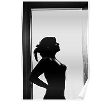 Self Portrait- abandoned house silhouette Poster
